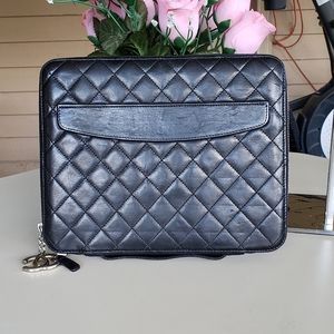 authentic chanel tablet case